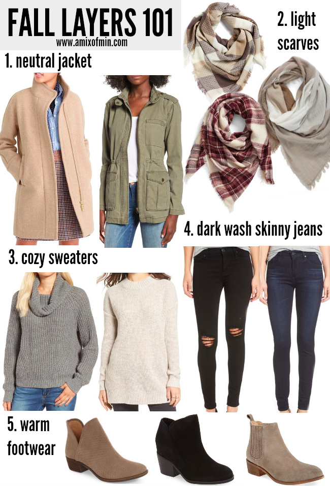 Building A Fall Wardrobe Layers 101 A Mix Of Min