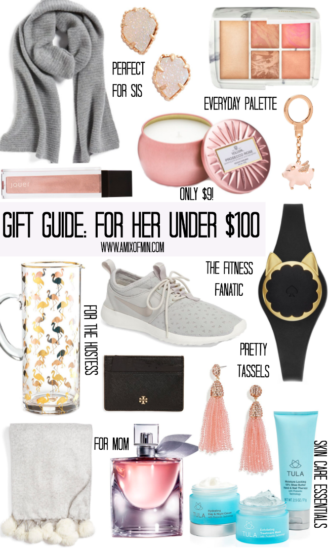 Gift guide for her under 100 a mix of min Ideas for womens christmas gifts under 25