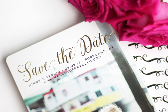 minted save the dates hello to servello