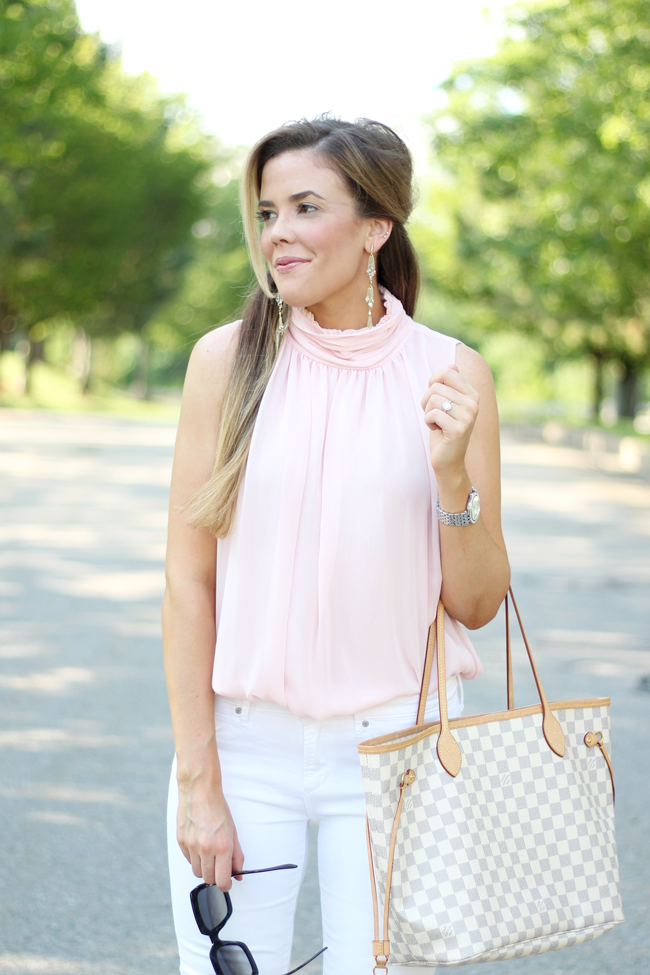 How to Style a High Neck Blouse