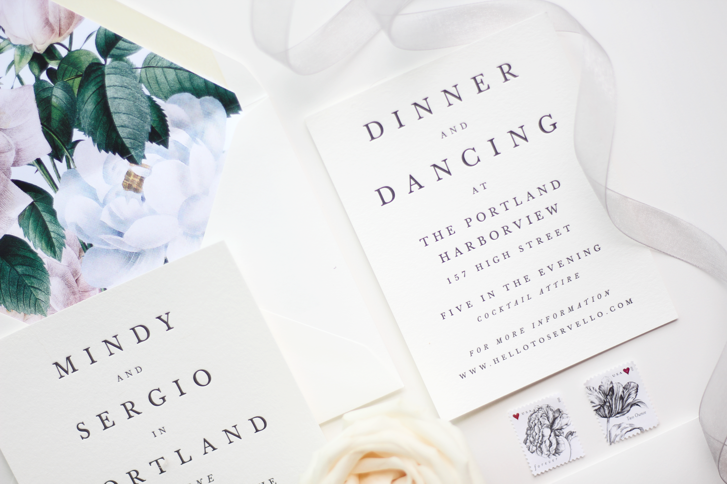 Our Wedding Invitation Suite with Minted - A Mix of Min