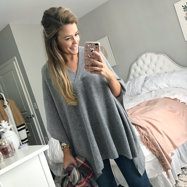 nordstrom anniversary sale cashmere poncho review