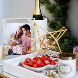 Holiday Bar Cart Styling on a Budget