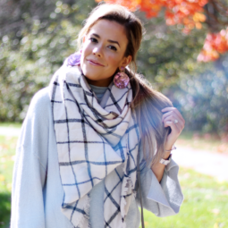 Affordable Check Blanket Scarf