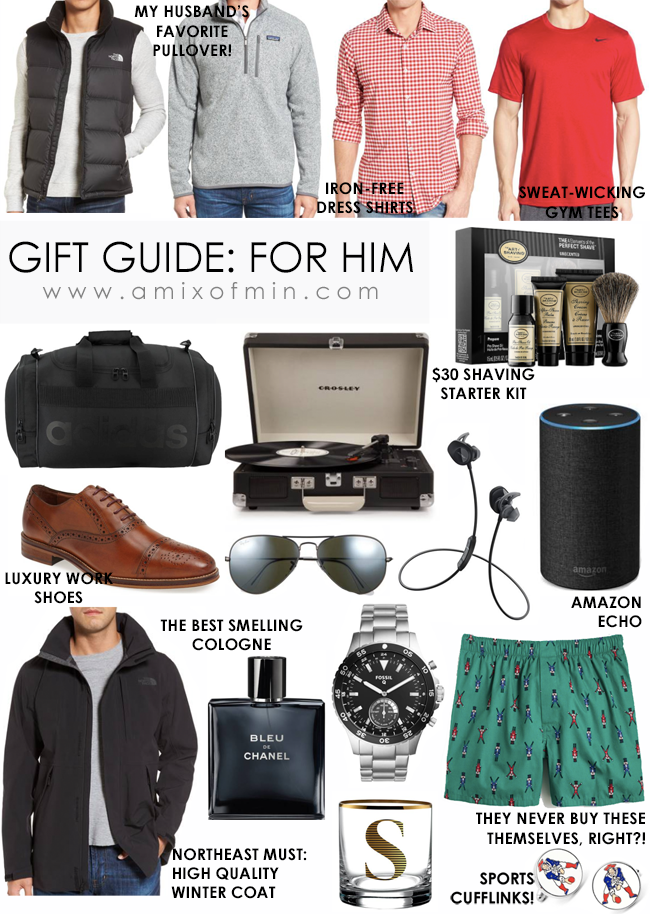 Ultimate Holiday Gift Guide for Him - A Mix of Min