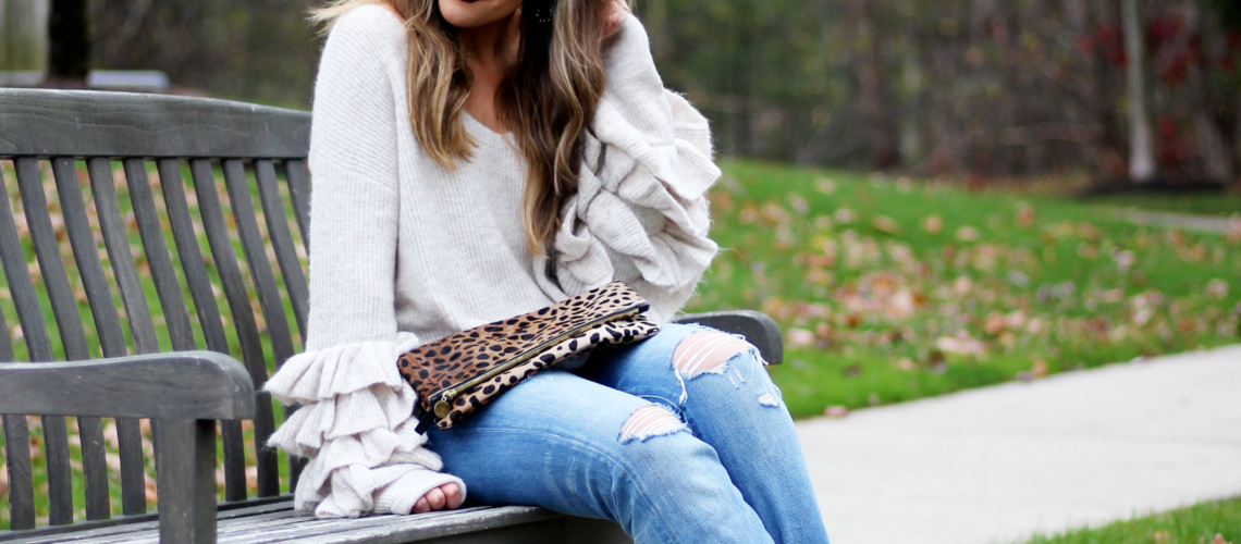 Currently Trending: Ruffle Sweaters